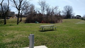 picnic tables at Kellogg Park