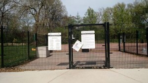 entrance at the clayton dog park