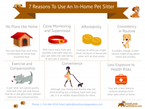 infographic with reasons to use an in-home pet stitting