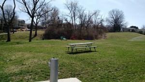 picnic tables at Kellogg Park